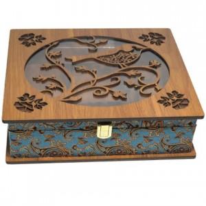 جعبه پذیرایی جعبه دمنوش جعبه آجیل و خشکبار لوکس باکس کد LB59