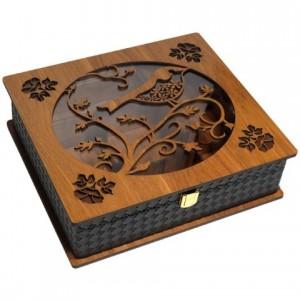 جعبه پذیرایی جعبه دمنوش چای کیسه ای و دمنوش لوکس باکس کد LB58-تصویر 2