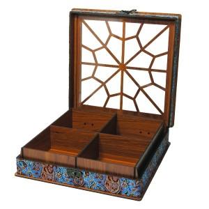 جعبه آجیل جعبه پذیرایی جعبه دمنوش جعبه خشکبار لوکس باکس کد LB032-تصویر 3