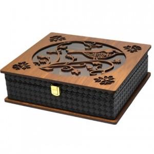 جعبه پذیرایی جعبه دمنوش چای کیسه ای و دمنوش لوکس باکس کد LB58