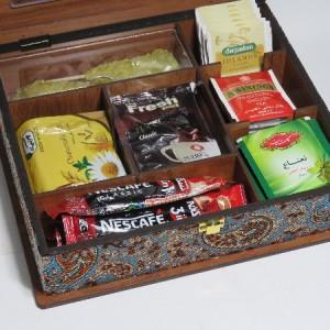 جعبه پذیرایی جعبه دمنوش جعبه آجیل و خشکبار لوکس باکس کد LB59-تصویر 4
