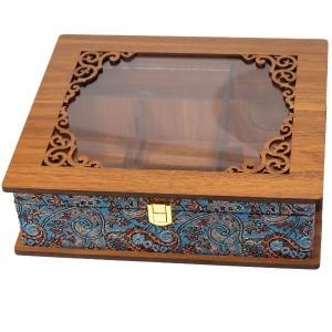 جعبه پذیرایی جعبه آجیل جعبه دمنوش لوکس باکس کد LB55