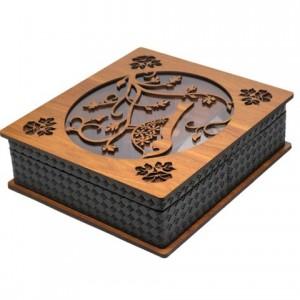 جعبه پذیرایی جعبه دمنوش چای کیسه ای و دمنوش لوکس باکس کد LB58-تصویر 3
