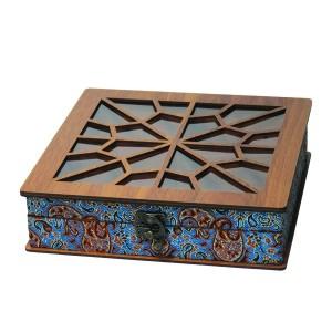 جعبه آجیل جعبه پذیرایی جعبه دمنوش جعبه خشکبار لوکس باکس کد LB032