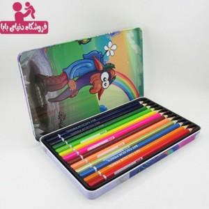 مداد رنگی اسکای 12 رنگ جعبه فلزی SKY STATIONERY-تصویر 2