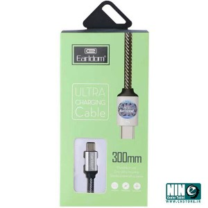 کابل تبدیل USB به Type-c ارلدام مدل EC-013C طول 30 سانتی متر