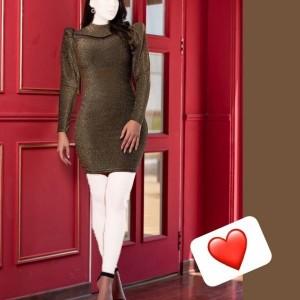 پیراهن زنانه لمه مدل مجلسی فریال-تصویر 2