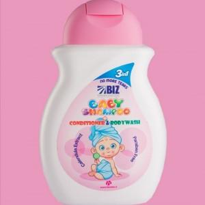 شامپو سر و بدن بچه حاوی مواد نرم کننده