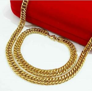 نیم ست زنجیر دستبند در دورنگ-تصویر 2