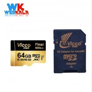 کارت حافظه microSDXC ویکومن مدل 600x plus کلاس 10 استاندارد UHS-I U3 س