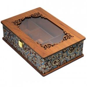 جعبه پذیرایی جعبه آجیل جعبه دمنوش لوکس باکس کد LBL55-تصویر 2