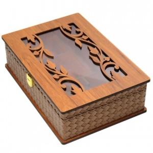جعبه پذیرایی جعبه آجیل جعبه دمنوش لوکس باکس کد LBL54-تصویر 2
