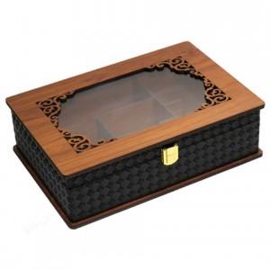 جعبه پذیرایی جعبه آجیل جعبه دمنوش لوکس باکس کد LBL63-تصویر 4