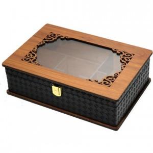 جعبه پذیرایی جعبه آجیل جعبه دمنوش لوکس باکس کد LBL63-تصویر 2