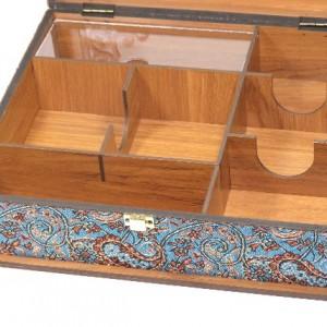 جعبه پذیرایی جعبه آجیل جعبه دمنوش مدل پرنده لوکس باکس کد LB63-تصویر 4