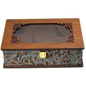 جعبه پذیرایی جعبه آجیل جعبه دمنوش لوکس باکس کد LBL55-تصویر 4