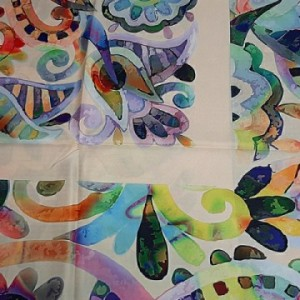 روسری ابریشم فاستونی دیجیتال 166-06 ارکیده-تصویر 4