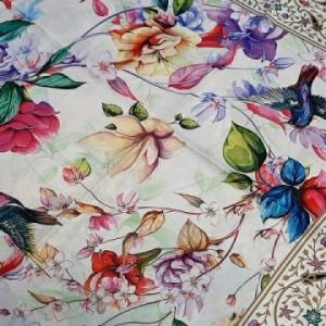 روسری ابریشم فاستونی دیجیتال 121-09 ارکیده-تصویر 3