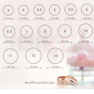 انگشتر نقره زنانه آراز کد 2014-تصویر 4