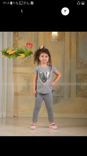 لباس ست دخترانه قلب