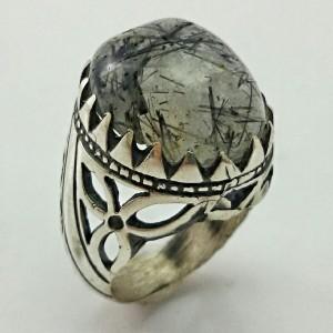 انگشتر نقره روتایل مویی اصل و معدنی-تصویر 2
