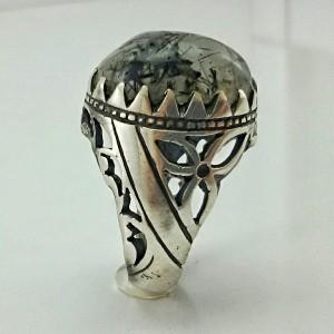 انگشتر نقره روتایل مویی اصل و معدنی-تصویر 3