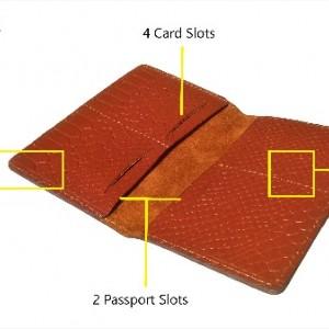کیف پاسپورت و مدارک چرم طبیعی مدل PS33-تصویر 2
