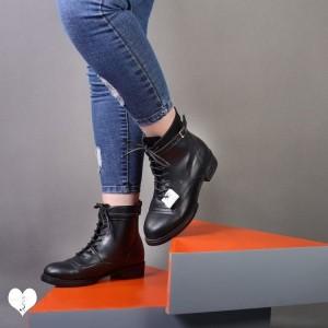 بوت نیمه بلند مدل پونی رکابدار چرم صنعتی کاپرا Ma-تصویر 2