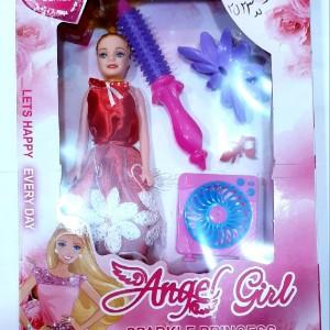 عروسک باربی شانه و پنکه دار