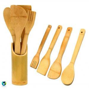 ست کفگیر و قاشق چوبی بامبو