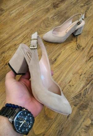 کفش مخمل پاشنه 5 سانت B-تصویر 2