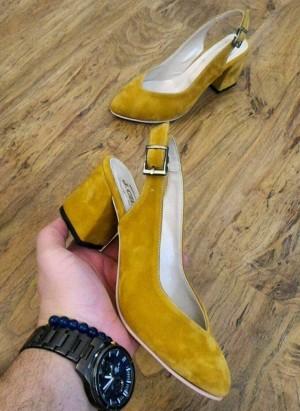 کفش مخمل پاشنه 5 سانت B