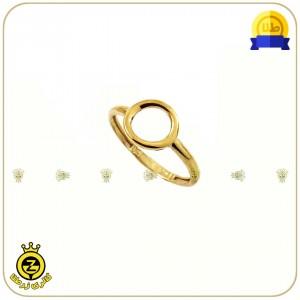 انگشتر طلا دایره کوچک توخالی