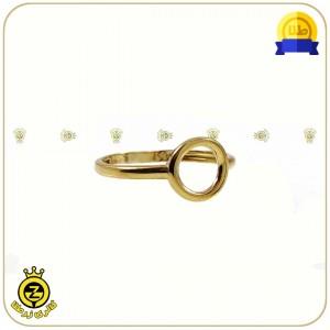 انگشتر طلا دایره کوچک توخالی-تصویر 2