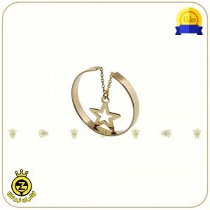 انگشتر طلا فری سایز با آویز ستاره