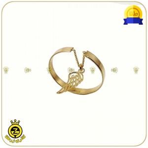 انگشتر طلا فری سایز با آویز بال پرنده