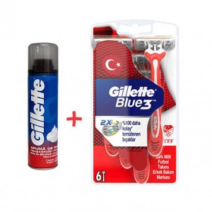 تیغ اصلاح 6 عددی 3 لبه Gillette Blue 3-تصویر 2