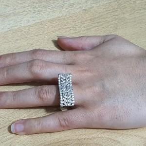 انگشتر نقره جواهری ایتالیایی زنانه کد A03-تصویر 4