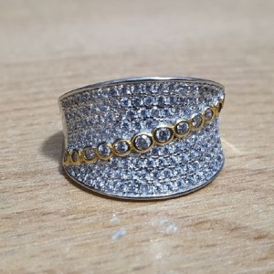 انگشتر نقره جواهری ایتالیایی زنانه کد A01-تصویر 2