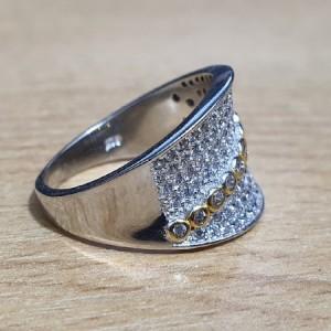 انگشتر نقره جواهری ایتالیایی زنانه کد A01-تصویر 3