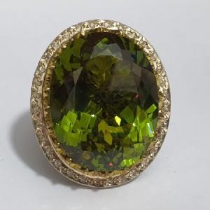 انگشتر نقره غولپیکر سلطنتی الکساندریت درجه ۱ با وزن ۲۵۰ قیراط-تصویر 2