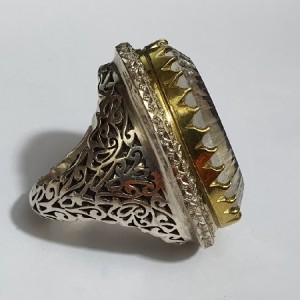 انگشتر جواهری تیتانیوم کوارتز شمش ماداگاسکار ۳۰۰ قیراط-تصویر 3