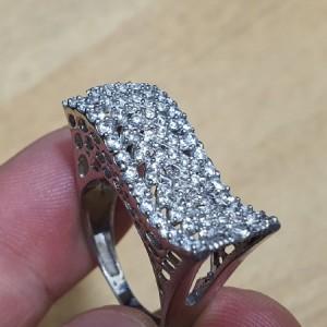 انگشتر نقره جواهری ایتالیایی زنانه کد A03-تصویر 5