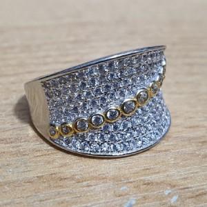انگشتر نقره جواهری ایتالیایی زنانه کد A01