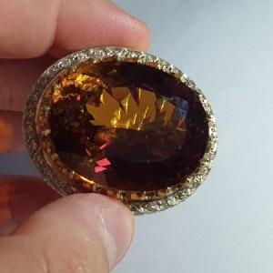 انگشتر نقره غولپیکر سلطنتی الکساندریت درجه ۱ با وزن ۲۵۰ قیراط-تصویر 4