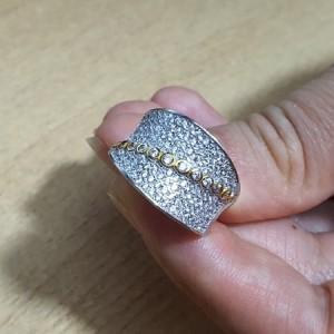 انگشتر نقره جواهری ایتالیایی زنانه کد A01-تصویر 4