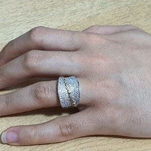انگشتر نقره جواهری ایتالیایی زنانه کد A01-تصویر 5