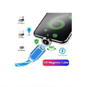 کابل شارژر مگنتی سه سر LED رنگی