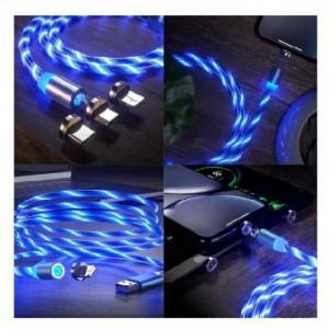 کابل شارژر مگنتی سه سر LED رنگی-تصویر 2