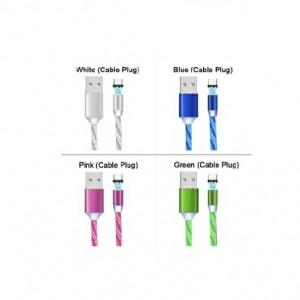 کابل شارژر مگنتی سه سر LED رنگی-تصویر 3
